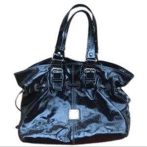 Dooney & Bourke Chiara, black patent leather